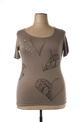 T-shirt manches courtes vert FINETTE pour femme