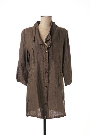 Veste casual marron EVER EASY BY JAC JAC pour femme