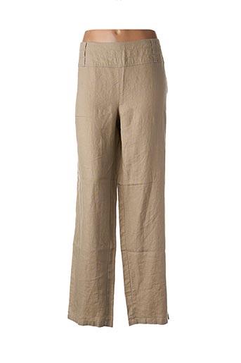 Pantalon casual beige CARMEN pour femme