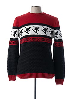 Pull col rond rouge IMPERIAL pour homme