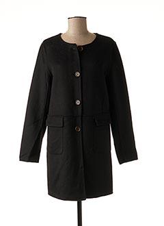 Manteau long noir FREDA pour femme