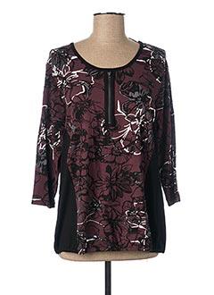 T-shirt manches longues rouge CISO pour femme