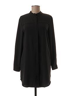 Tunique manches longues noir YUKA pour femme
