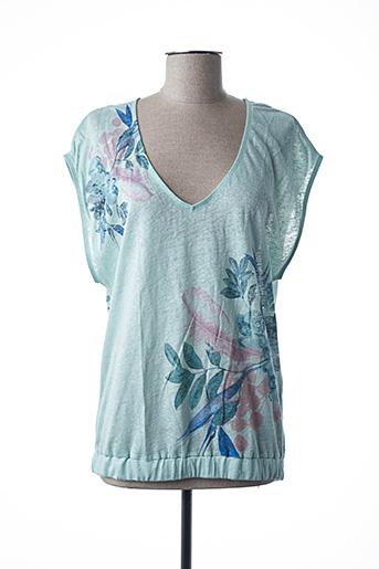 T-shirt manches courtes bleu FREEMAN T.PORTER pour femme