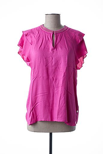T-shirt manches courtes rose SCOTCH & SODA pour femme