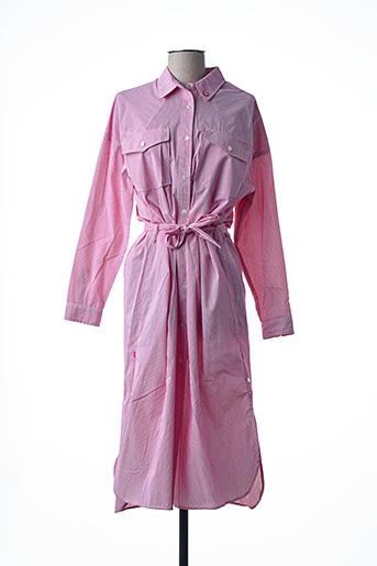Robe mi-longue rouge SCOTCH & SODA pour femme