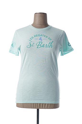 T-shirt manches courtes bleu CODE ZERO pour femme