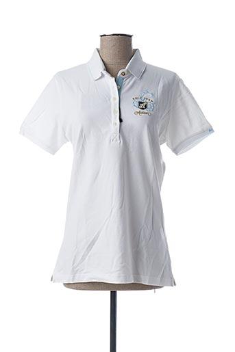 Polo manches courtes blanc ARISTOW pour femme