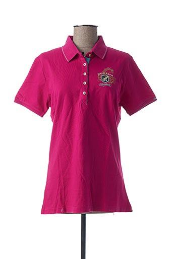 Polo manches courtes rose ARISTOW pour femme