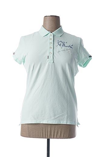 Polo manches courtes vert CODE ZERO pour femme
