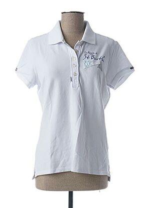 Polo manches courtes blanc CODE ZERO pour femme