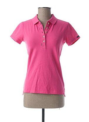 Polo manches courtes rose CODE ZERO pour femme