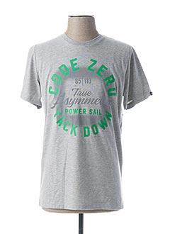 T-shirt manches courtes gris CODE ZERO pour homme