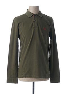 Polo manches longues vert ARISTOW pour homme