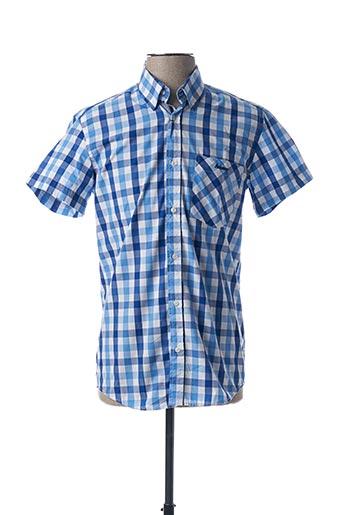 Chemise manches courtes bleu ARISTOW pour homme