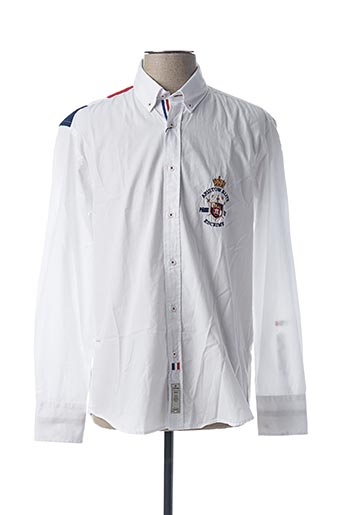 Chemise manches longues blanc ARISTOW pour homme