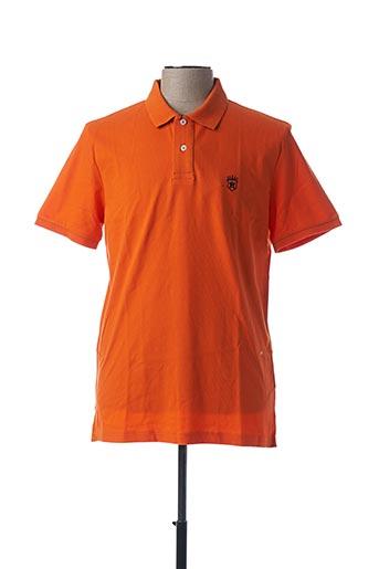 Polo manches courtes orange ARISTOW pour homme