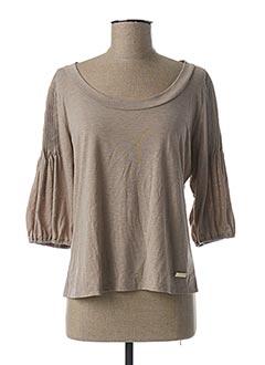 T-shirt manches longues beige ESCORPION pour femme