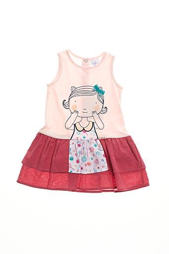 Robe mi-longue rose COUDEMAIL pour fille