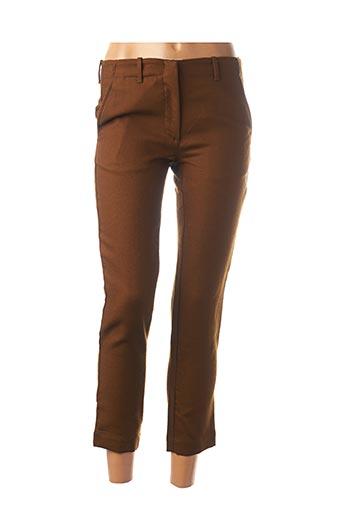 Pantalon 7/8 marron POMANDERE pour femme