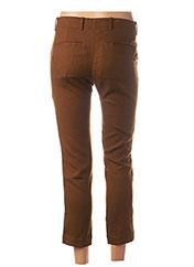 Pantalon 7/8 marron POMANDERE pour femme seconde vue