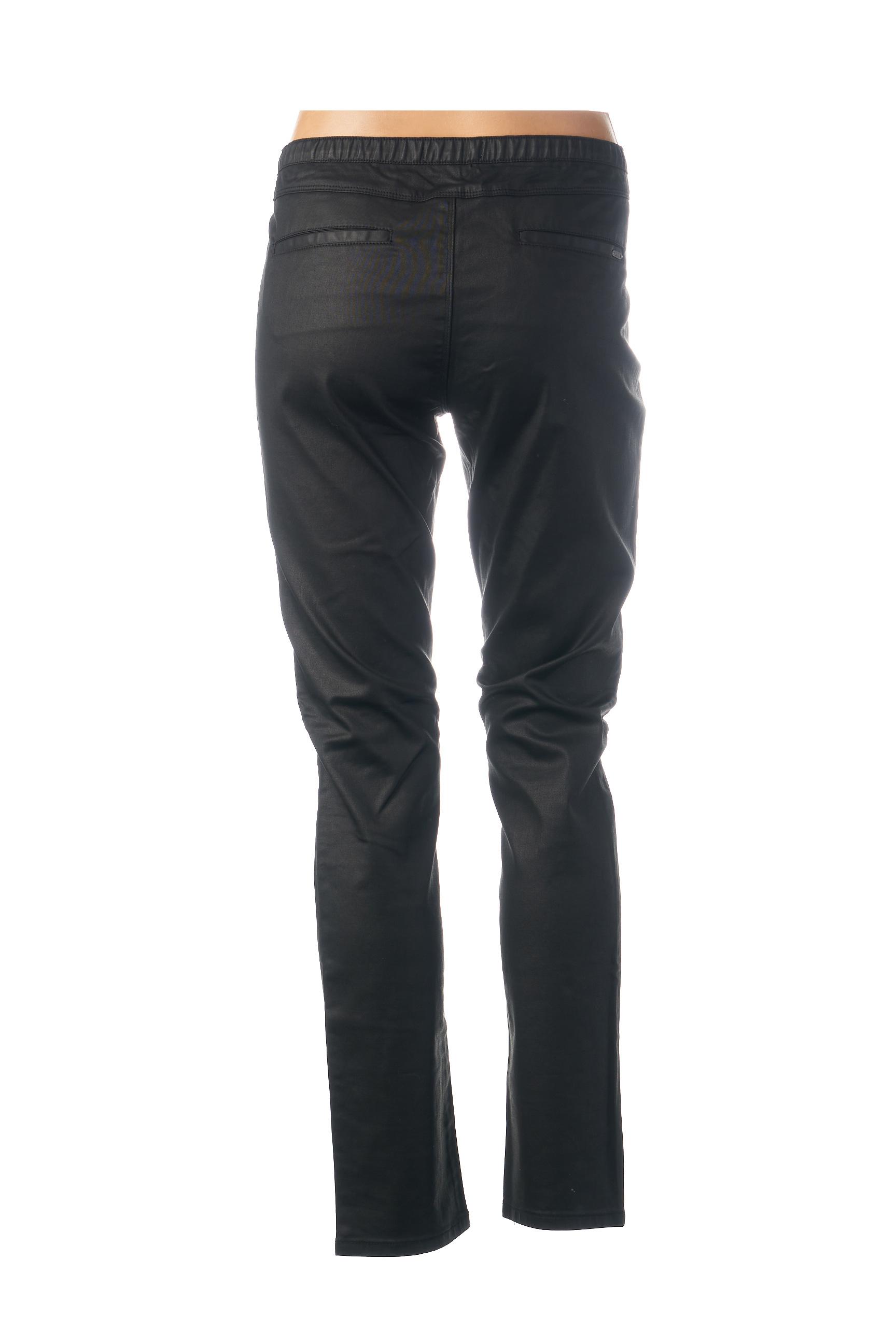 Mkt Studio Pantalons Citadins Femme De Couleur Noir En Soldes Pas Cher 1451879-noir00
