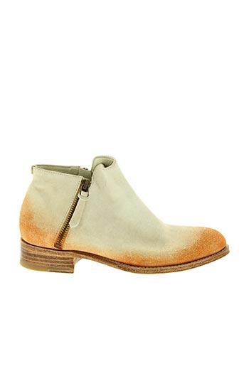 Bottines/Boots orange N.D.C pour femme