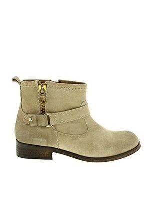 Bottines/Boots beige AUGUSTE pour femme