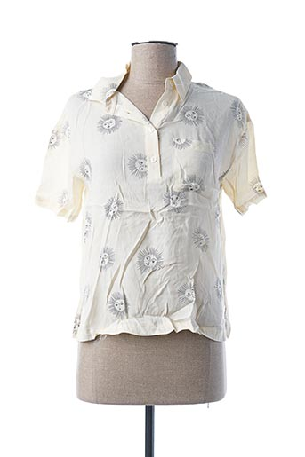 Polo manches courtes beige NICE THINGS pour femme