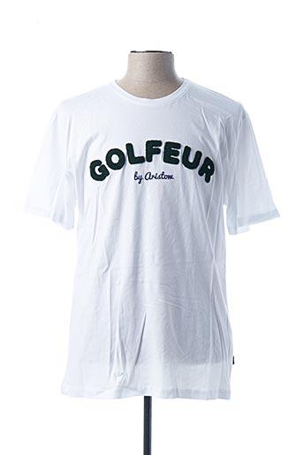 T-shirt manches courtes blanc ARISTOW pour homme