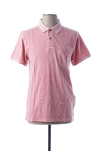 Polo manches courtes rose DOCKERS pour homme