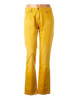 Jeans coupe slim jaune LE PETIT BAIGNEUR pour femme