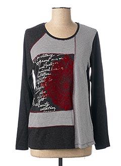 T-shirt manches longues noir GUY DUBOUIS pour femme