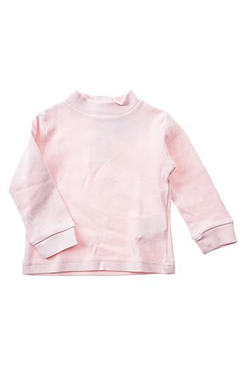 T-shirt manches longues rose LOSAN pour fille