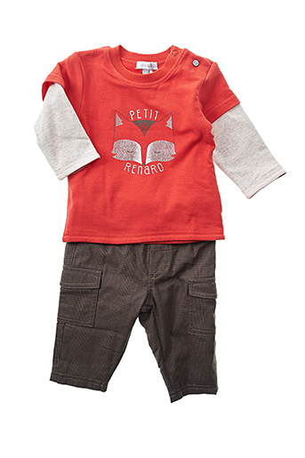 Top/pantalon orange ABSORBA pour garçon