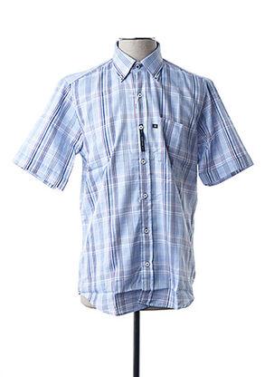 Chemise manches courtes bleu BLUSALINA pour homme