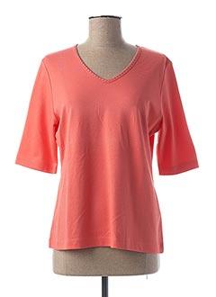 T-shirt manches courtes rose RABE pour femme