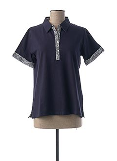 Polo manches courtes bleu TELMAIL pour femme