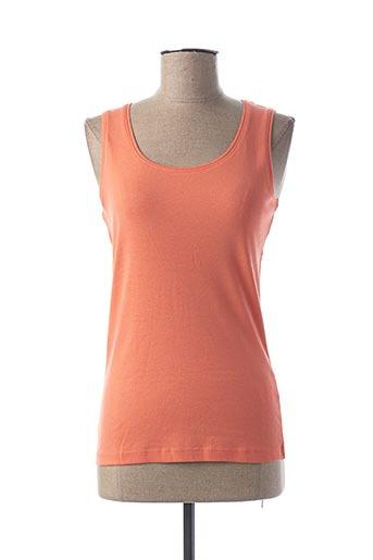 Débardeur orange CASUAL WEAR pour femme
