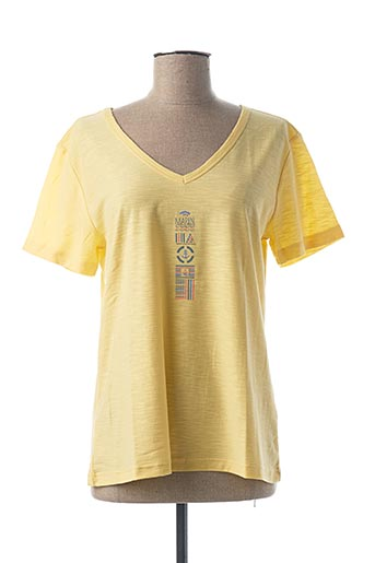 T-shirt manches courtes jaune THALASSA pour femme
