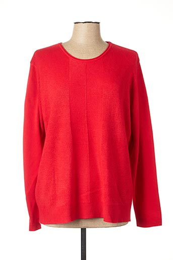 Pull col rond rouge CASHMERE FEELING pour femme