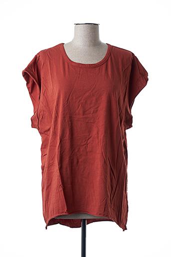 T-shirt manches courtes marron ADILYNN pour femme