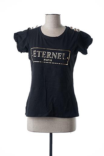 T-shirt manches courtes noir ADILYNN pour femme