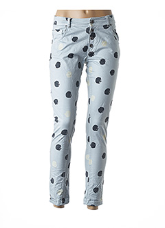 Pantalon casual gris MADE IN ITALY pour femme