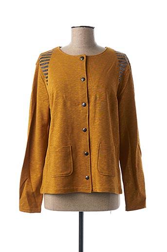 Veste casual jaune THALASSA pour femme