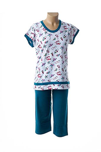 Pyjama blanc ROSE POMME pour femme