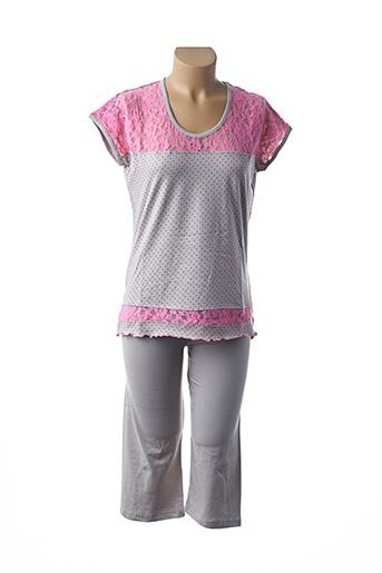 Pyjama gris ROSE POMME pour femme