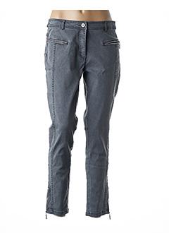 Pantalon 7/8 gris MIA SOANA pour femme