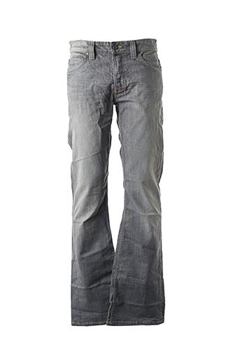 Jeans coupe droite gris RICH & SKINNY pour homme