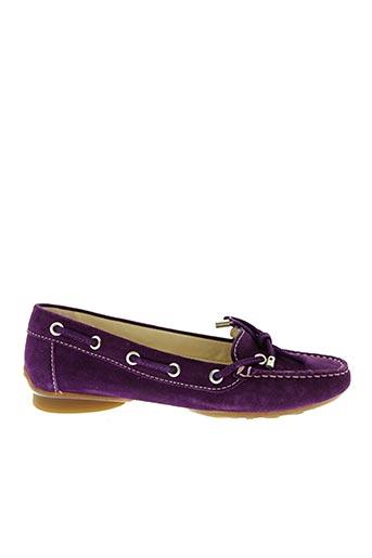 Chaussures bâteau violet GEOX pour femme